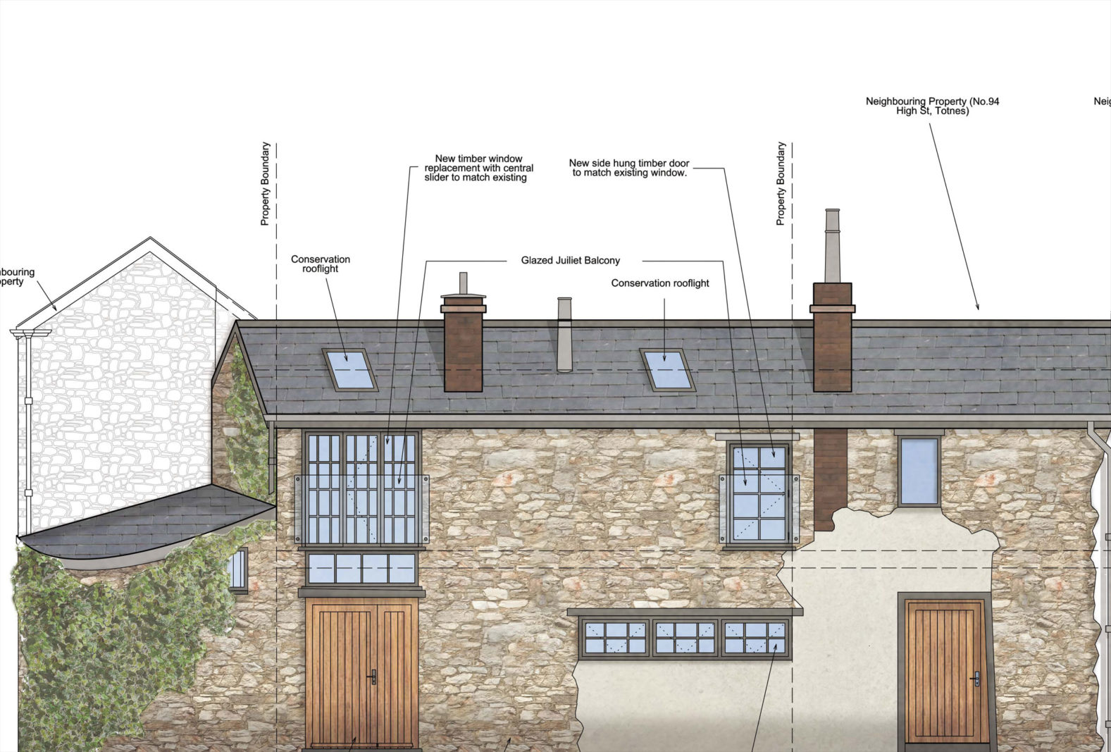 Planning Permission granted for the Barn, Leechwell Street Totnes – Rud Sawers Architects, Devon