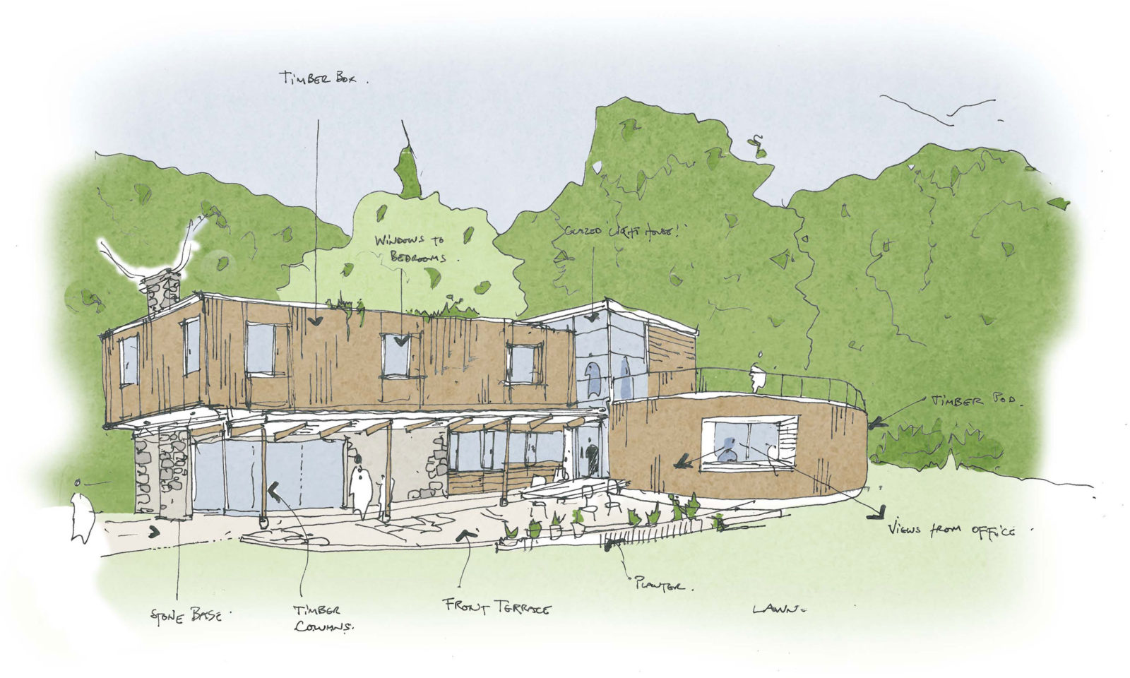 RSA awarded new-build house project in Belstone near Okehampton – Rud Sawers Architects, Devon