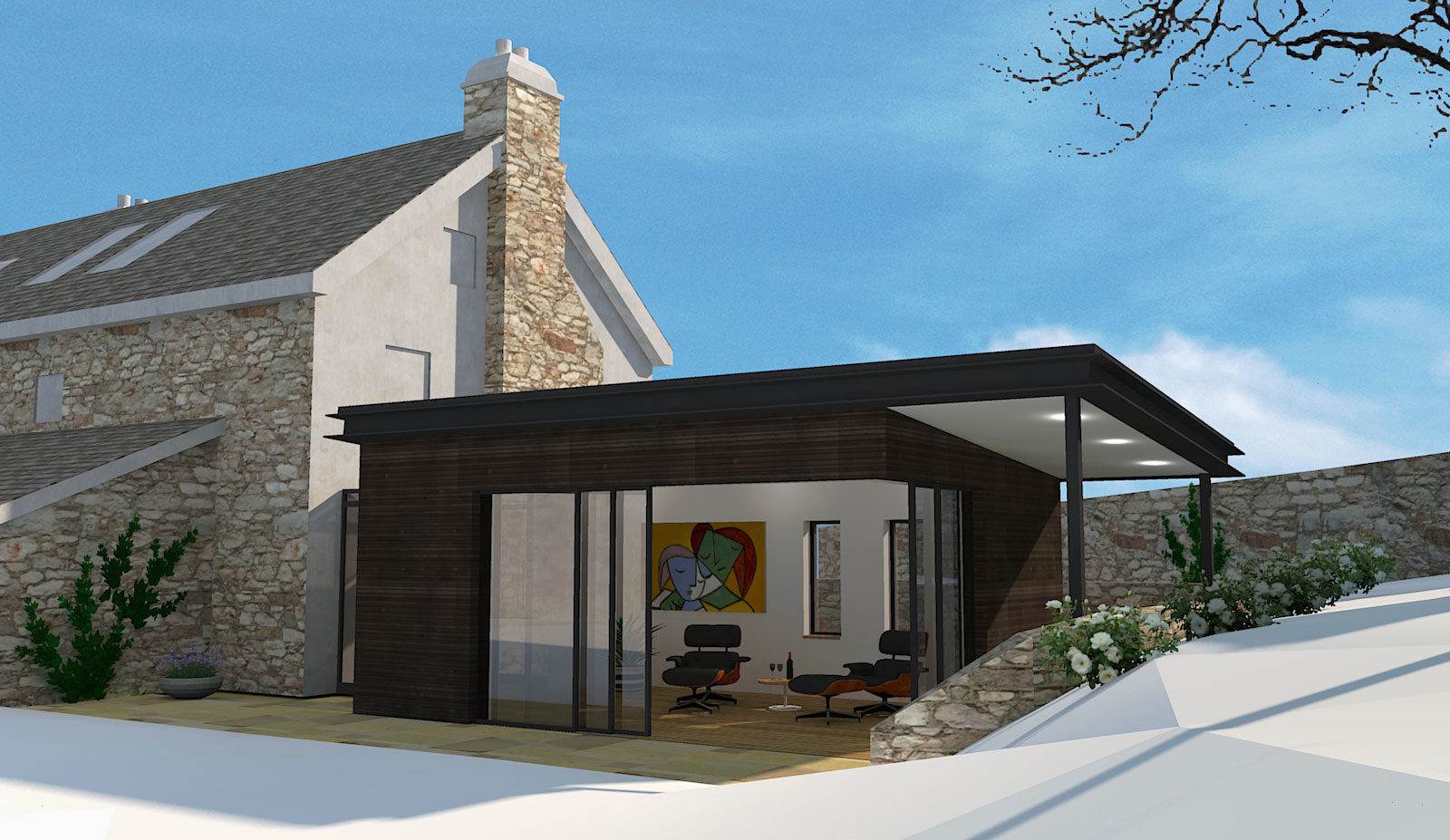 Leigh House granted planning consent by Dartmoor National Park – Rud Sawers Architects, Devon