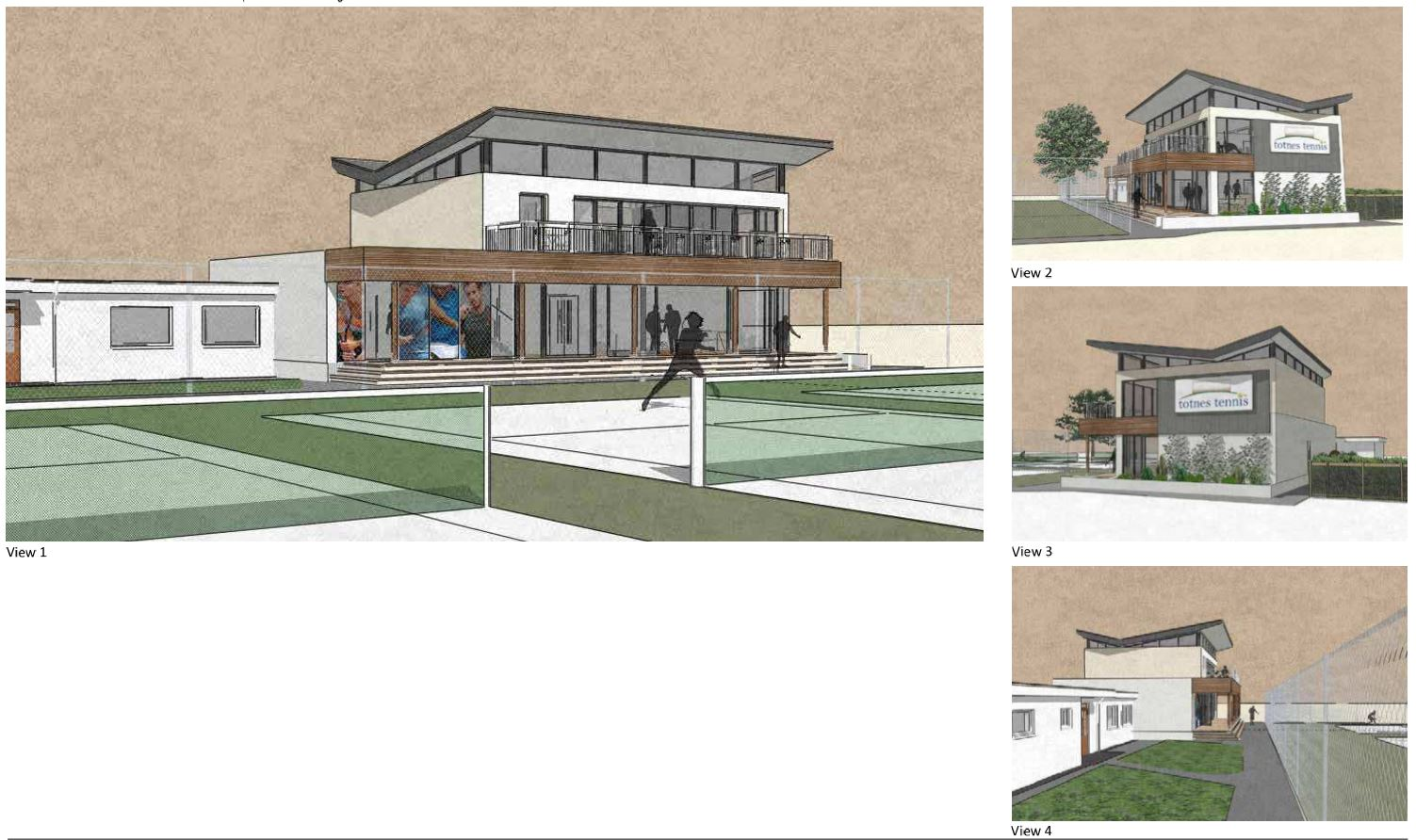 RSA present Totnes Tennis Club proposals to Committee – Rud Sawers Architects, Devon