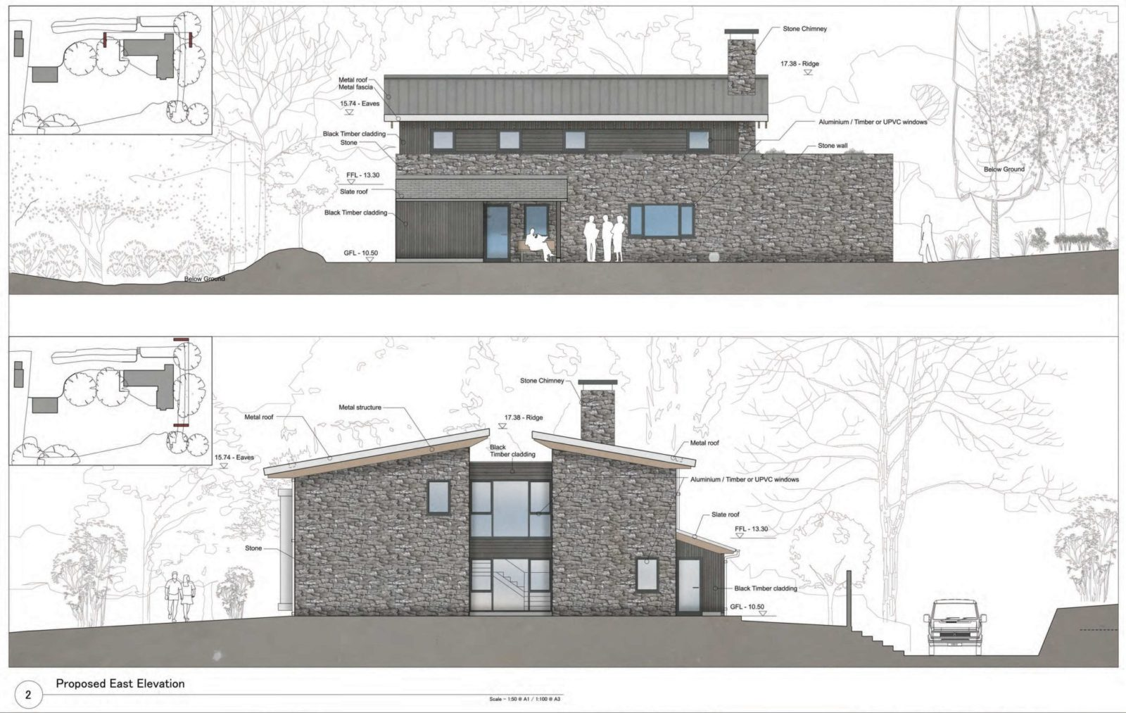Burl in Belstone submitted for planning approval – Rud Sawers Architects, Devon