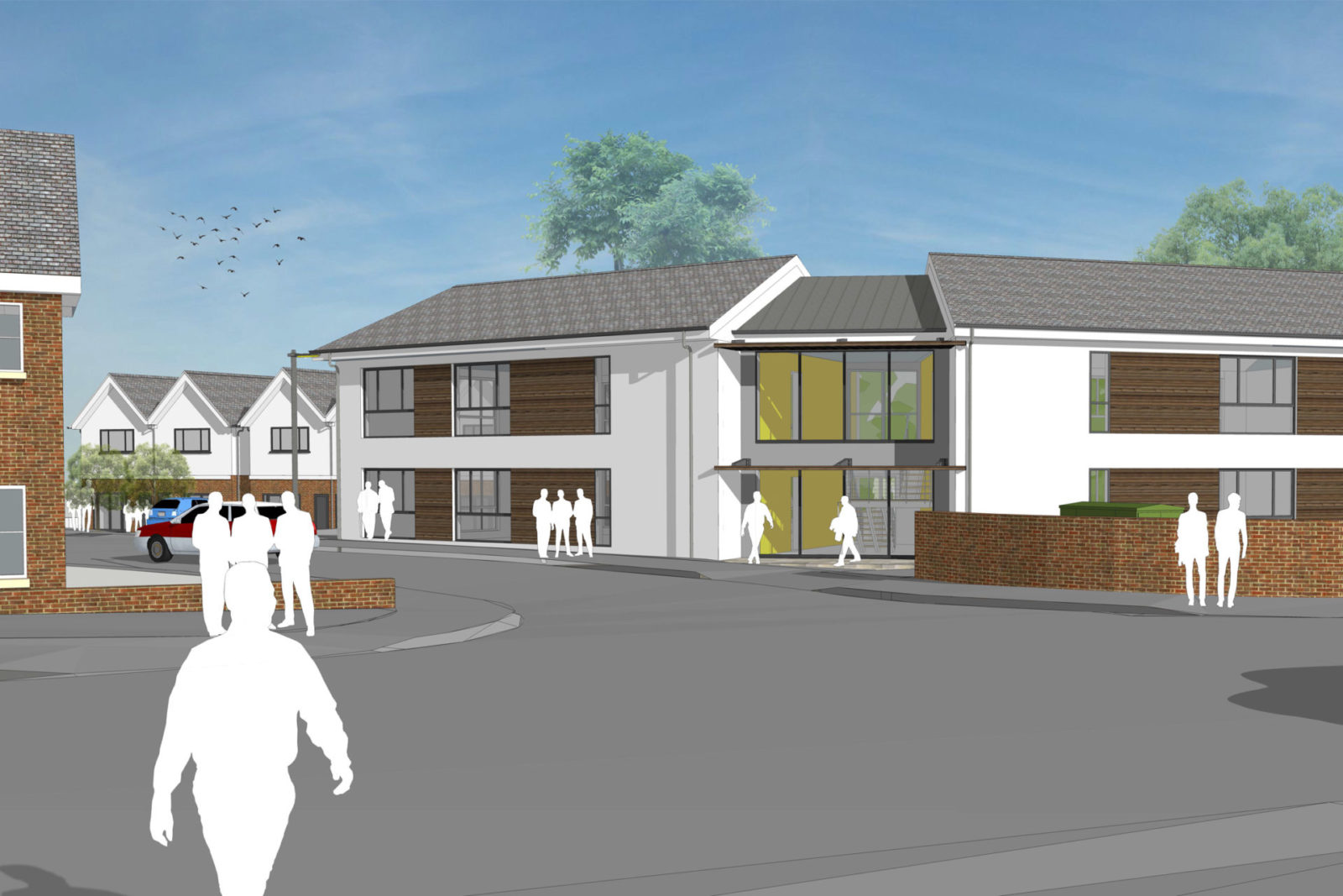 Commercial offices and residential housing at Nellies wood , Totnes submitted for Planning – Rud Sawers Architects, Devon