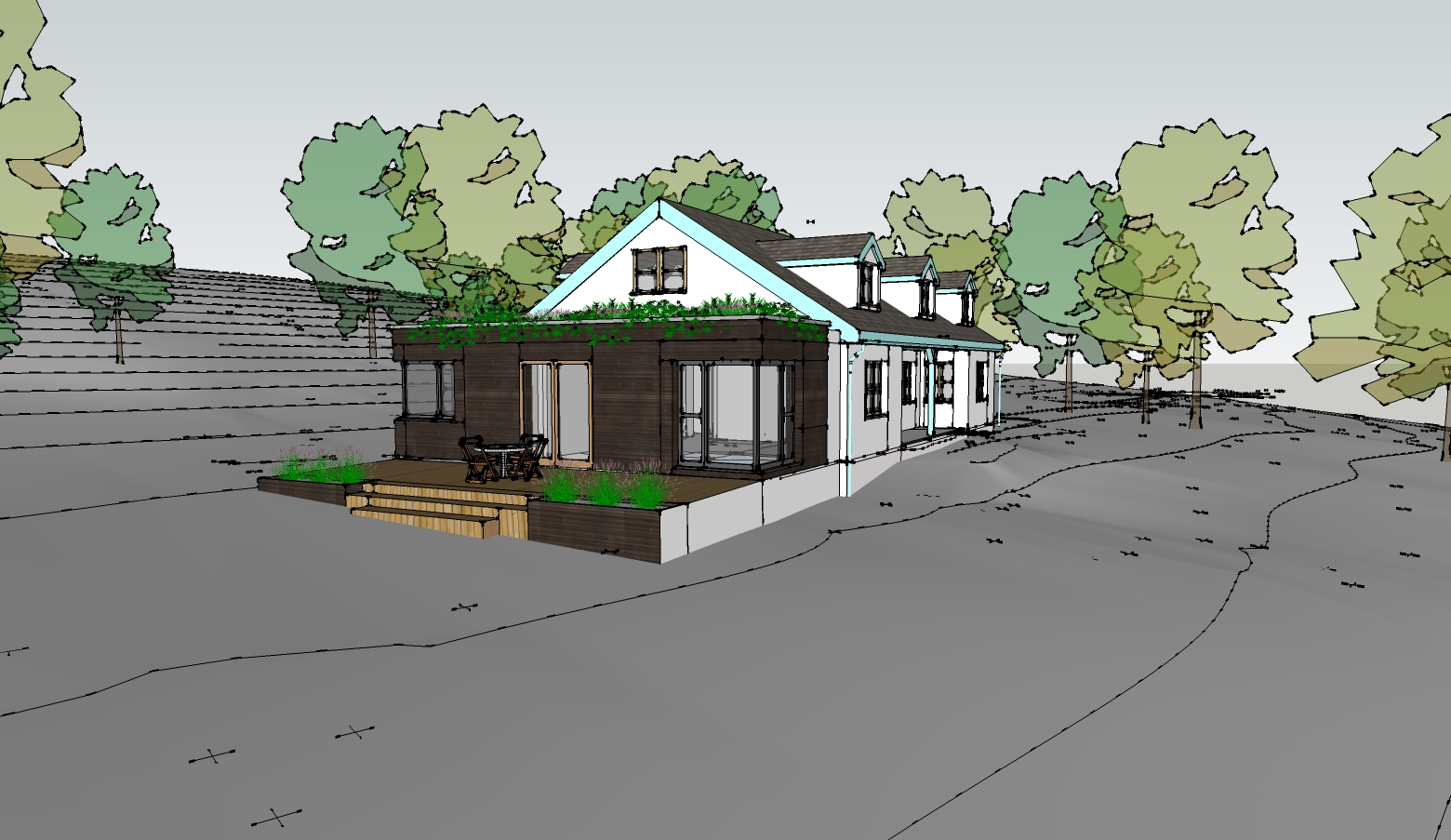 RSA commissioned to design new extension at hideaway house near Moretonhampstead – Rud Sawers Architects, Devon