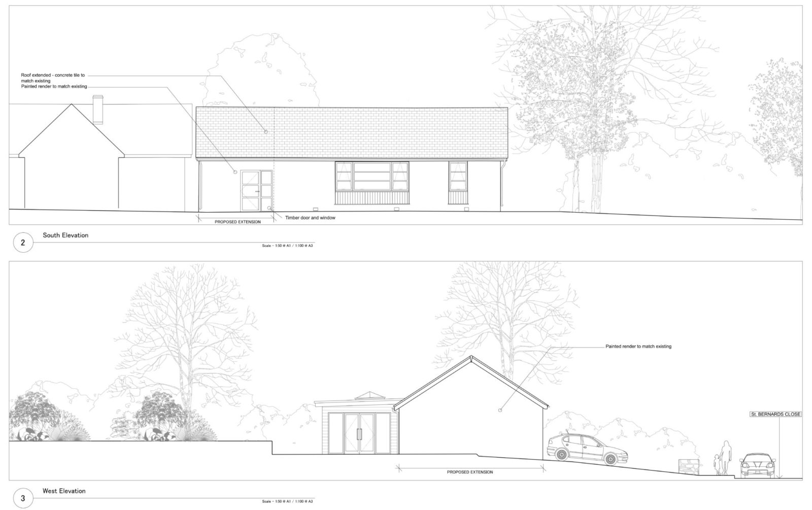 1 St. Bernards Close, Buckfast wins Planning Approval – Rud Sawers Architects, Devon