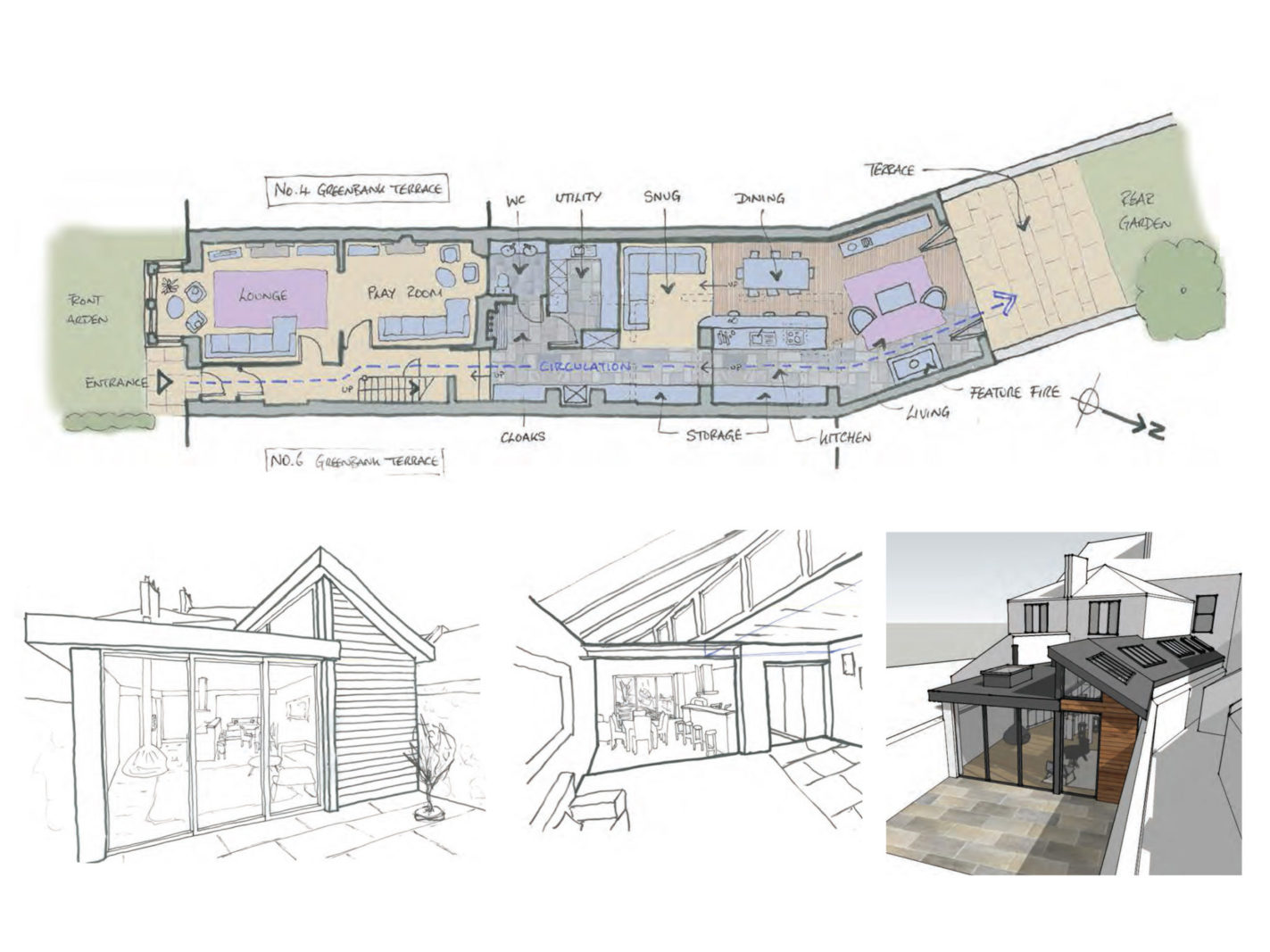 5 Greenbank Terrace, Yelverton project wins Planning approval. – Rud Sawers Architects, Devon