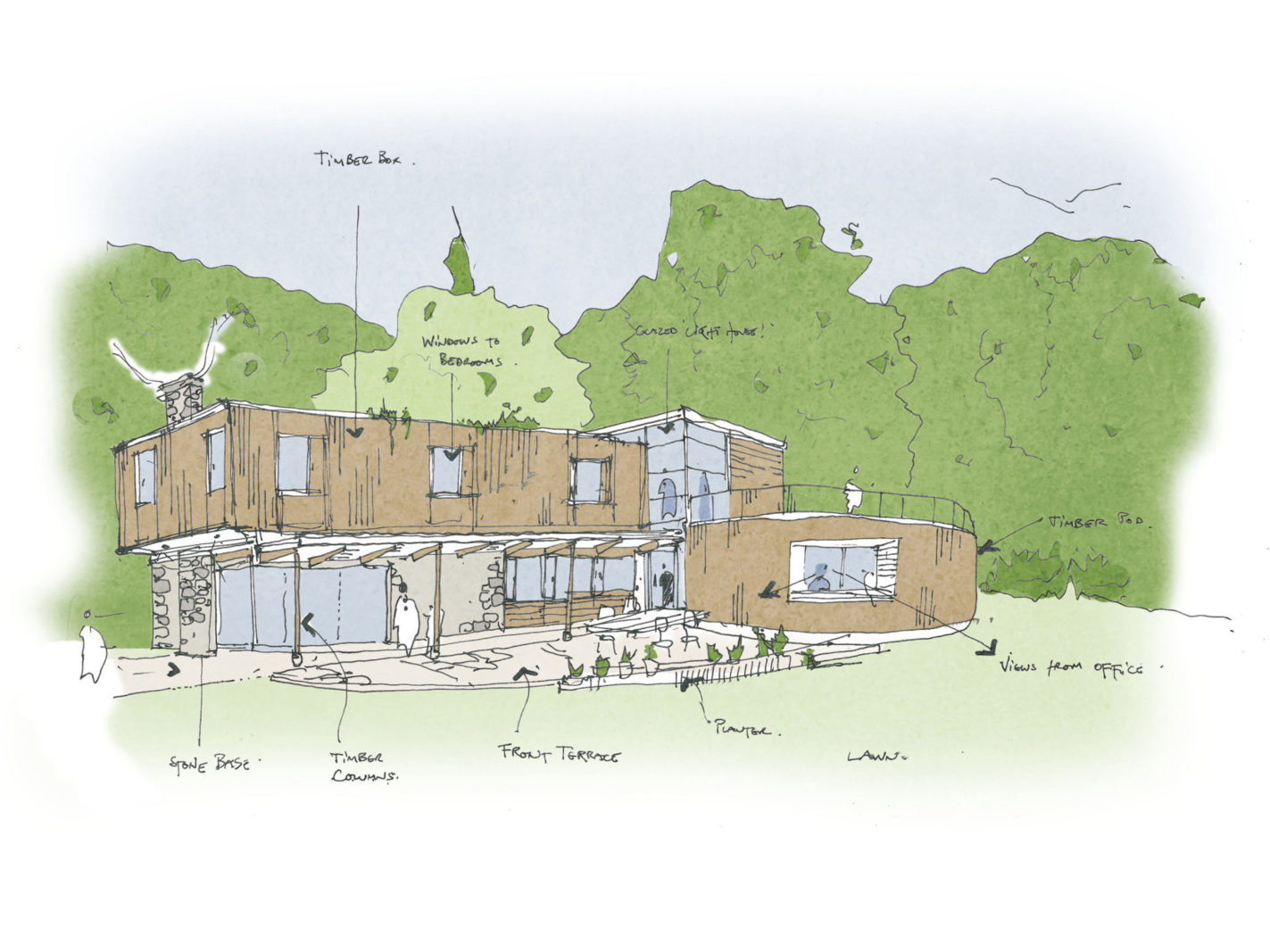 Burl designs progressing – Rud Sawers Architects, Devon