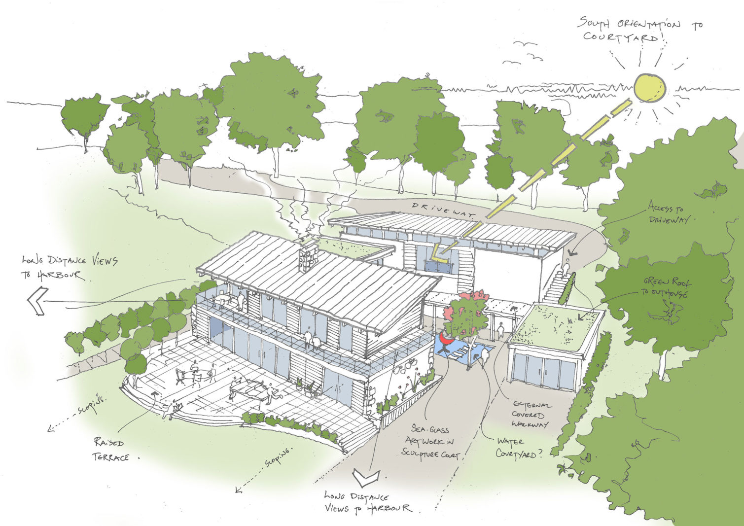 Early Design works underway for contemporary new build house in Isle of Wight – Rud Sawers Architects, Devon